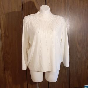 Dress Barn 22/24 pearl beads half turtleneck swtr